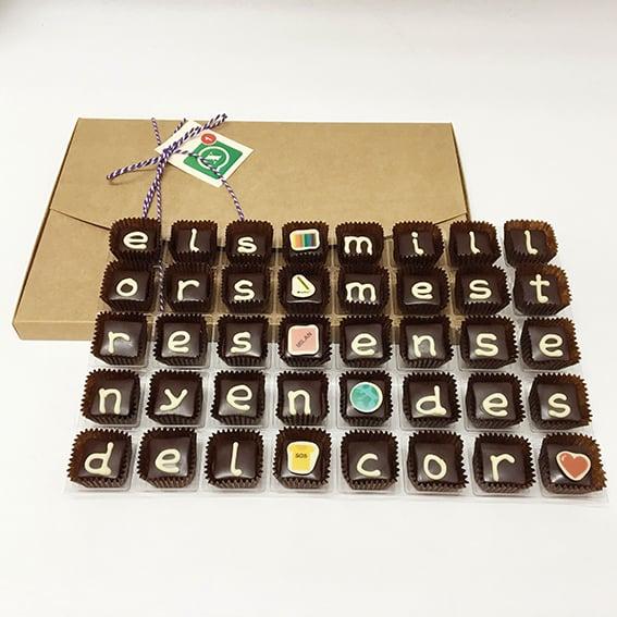 """Image of Xocowhats, missatge de xocolata: """"els milors mestres..."""""""