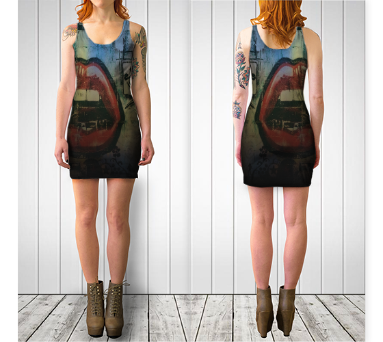 Image of Graffiti Bodycon Dress