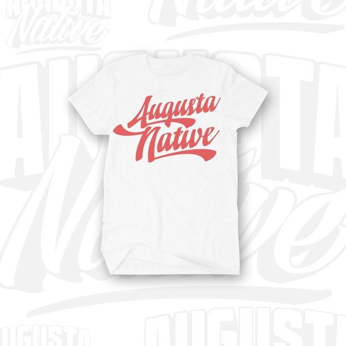 Image of Augusta Native Vintage Logo - White/Red