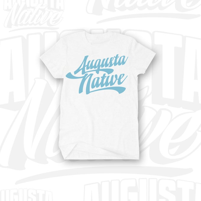 Image of Augusta Native Vintage Logo - White/LtBlue