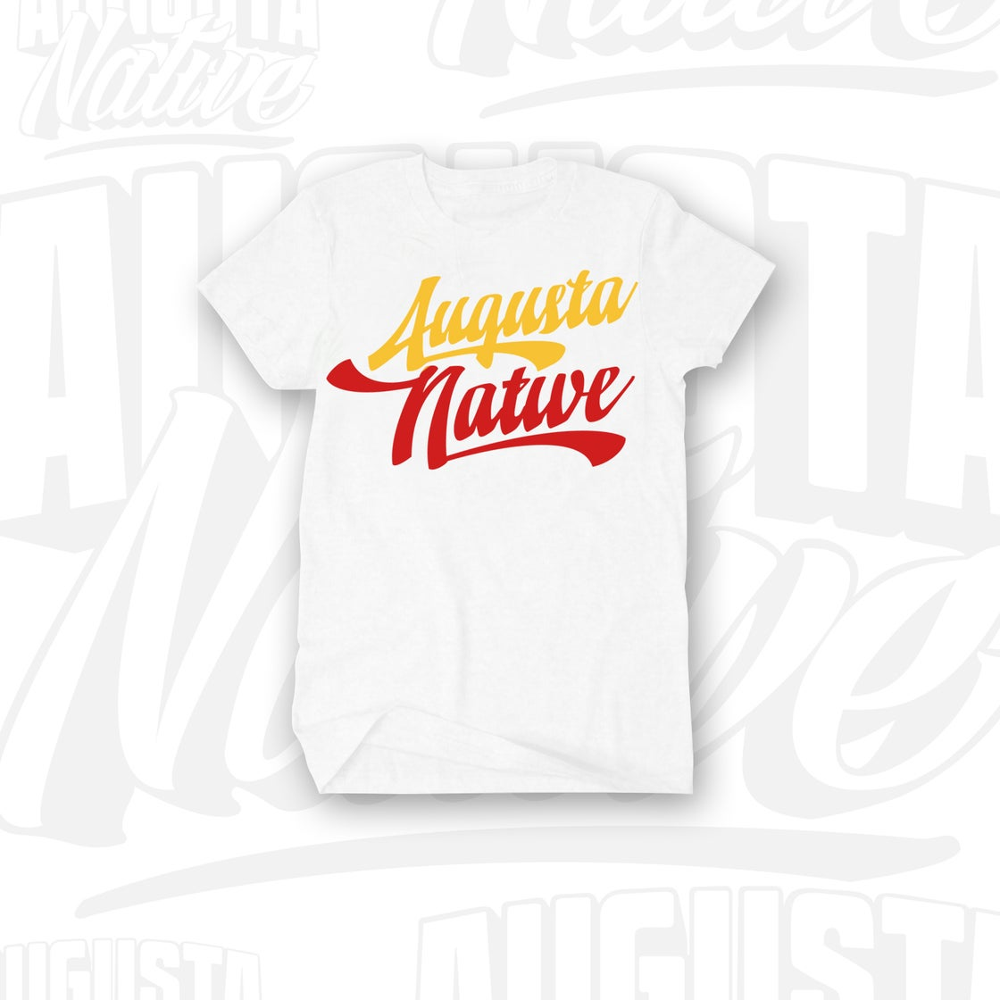 Image of Augusta Native Vintage Logo - White/Red/Gold