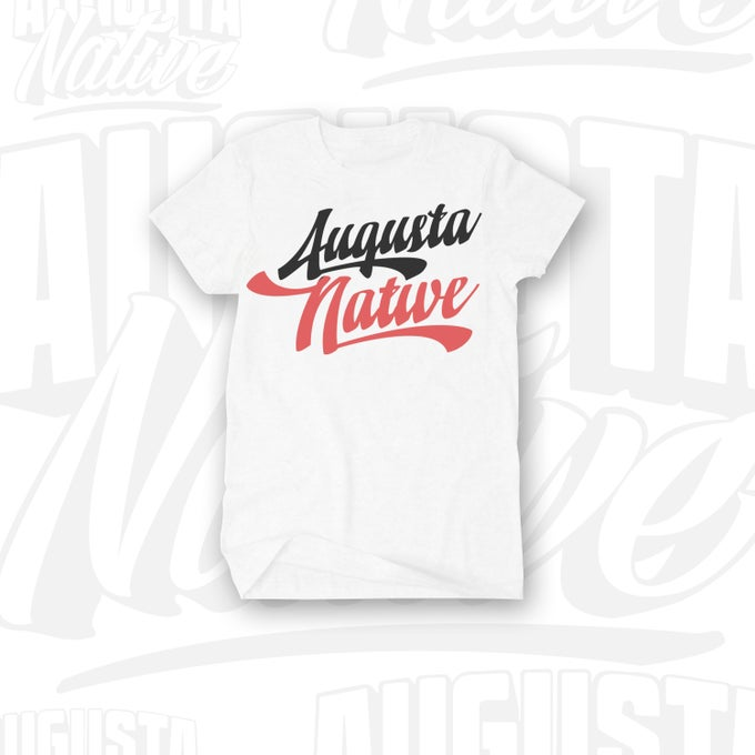Image of Augusta Native Vintage Logo - White/Black/Red