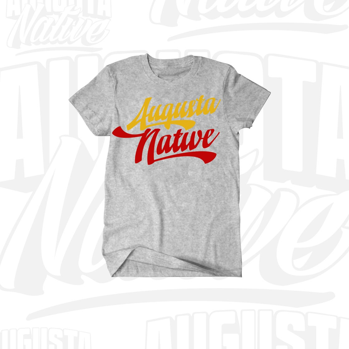 Image of Augusta Native Vintage Logo - Grey/Yellow/Red