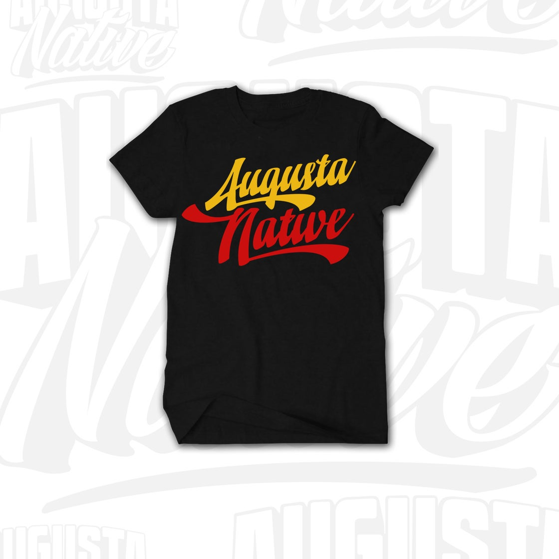 Image of Augusta Native Vintage Logo - Black/Gold/Red