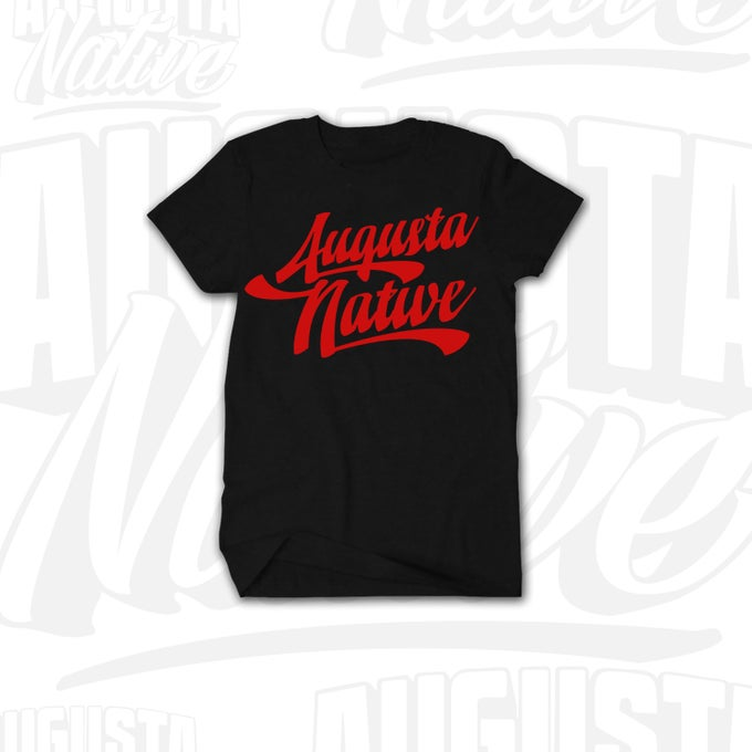 Image of Augusta Native Vintage Logo - Black/Red
