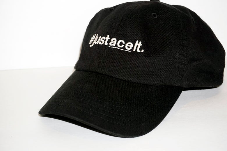 Image of #justaceit Hat - Black