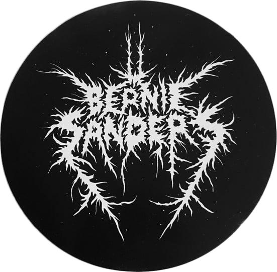 Image of Black Metal Bernie Sticker