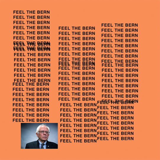 Image of Feel The Bern Pablo Sticker