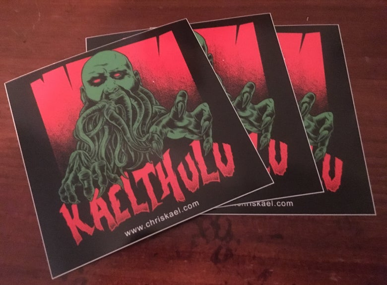 Image of Kaelthulu Sticker SIGNED
