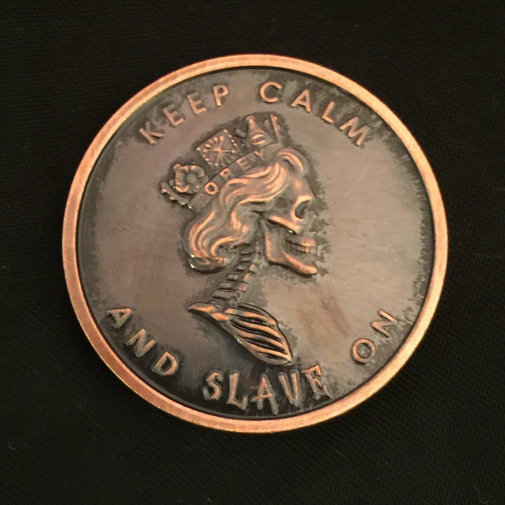 Image of Queen of the Damned 1oz Copper Challenge Coin