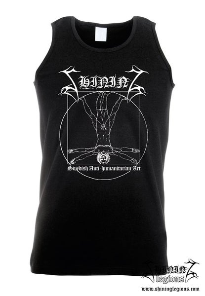 "Image of Shining ""Antihumanitarian"" Sleeveless Shirt"