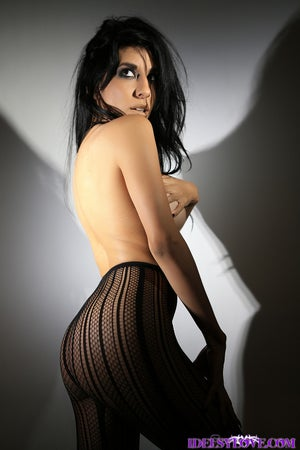 Image of BLACK FISHNET PANTYHOSE