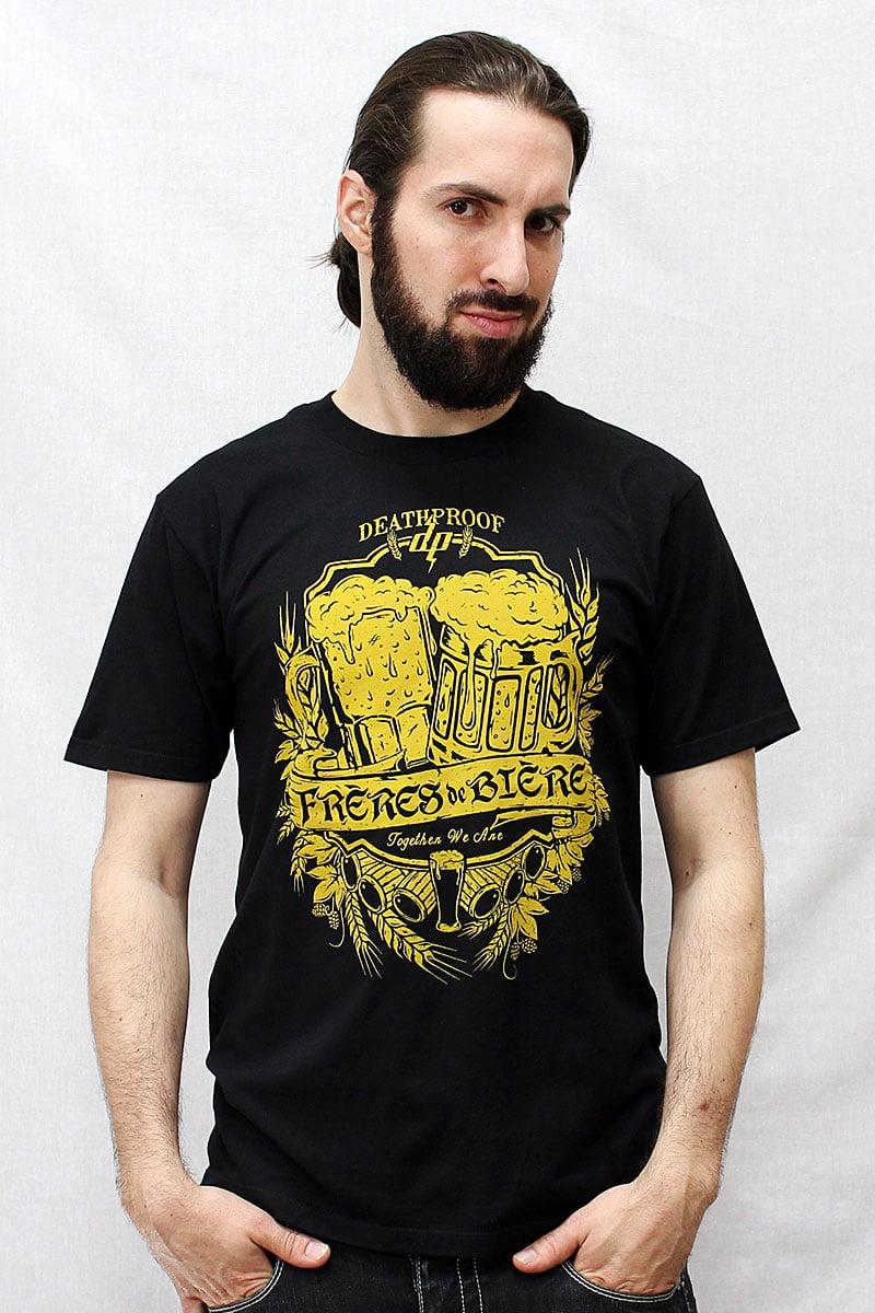 Image of Frères de Bière / T-shirt Noir Homme
