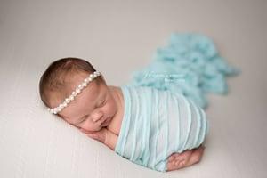 Image of Mint knit ruffle wrap