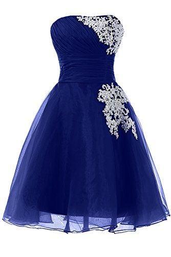 Lovely Short Royal Blue Homecoming Dresses , Short Prom Dresses, Party Dresses
