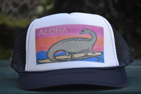 Image of Beach Dino (Surfing Diplodocus) Trucker Cap
