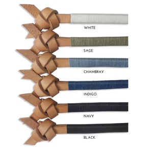 "Image of NATURAL LEATHER ""ARROW KNOT"""