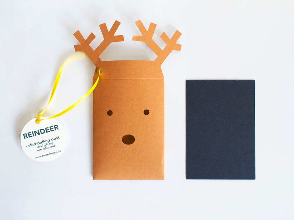 Image of 2 x Reindeer Envelope Gift Tag