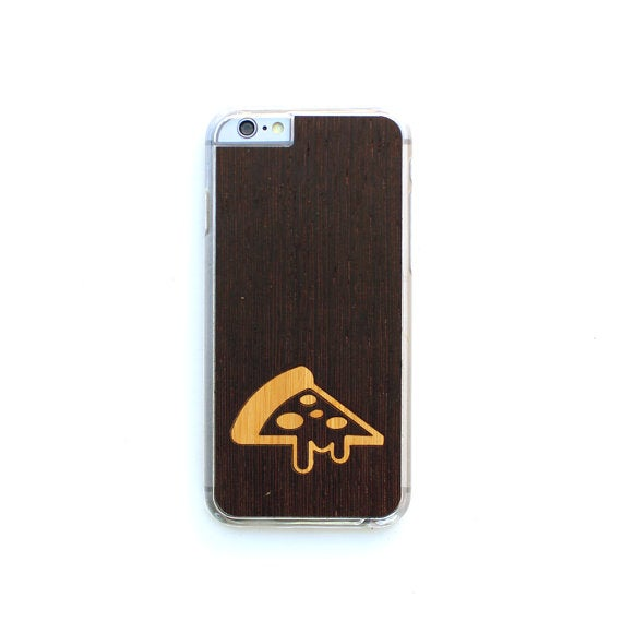 Image of TIMBER Wood Skin Case (iPhone) : Melted Pizza Inlay Edition