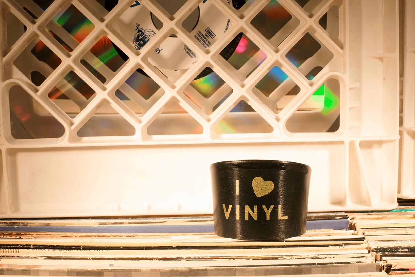 Image of I Heart Vinyl Cuff