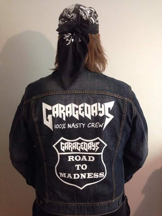 Image of GARAGEDAYS 100% Nasty Crew Road to Madness Jacket (HANDPAINTED) Free Shipping
