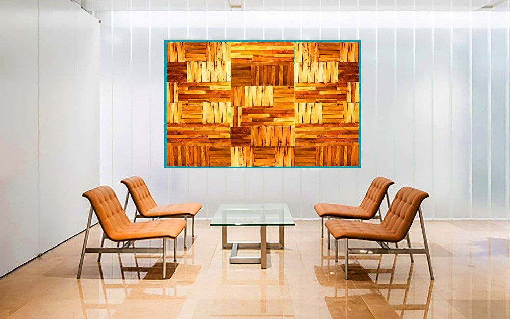 Image of 'NATURALLY PUZZLED' | Wood Wall Art | Wood Wall Sculpture | Modern Art | Original Corporate Art