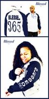 Blessed 365 Hooded Sweatshirt - Oxford/Navy Blue