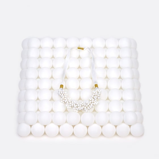 Image of White blowing up necklace