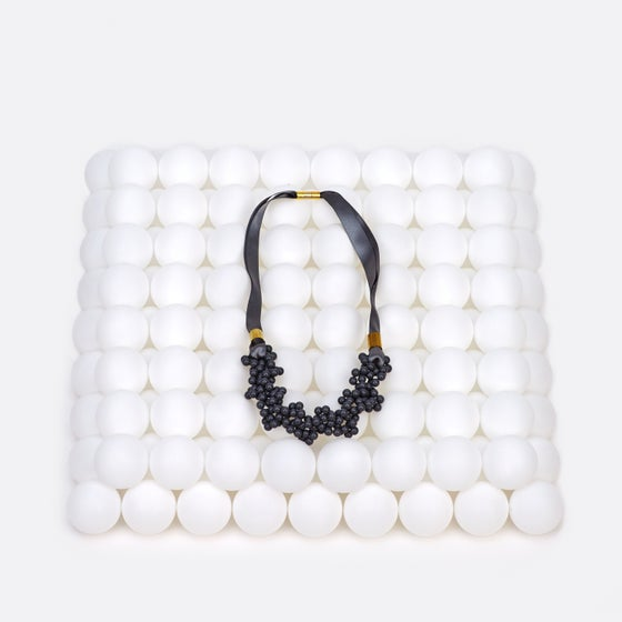 Image of Grey blowing up necklace
