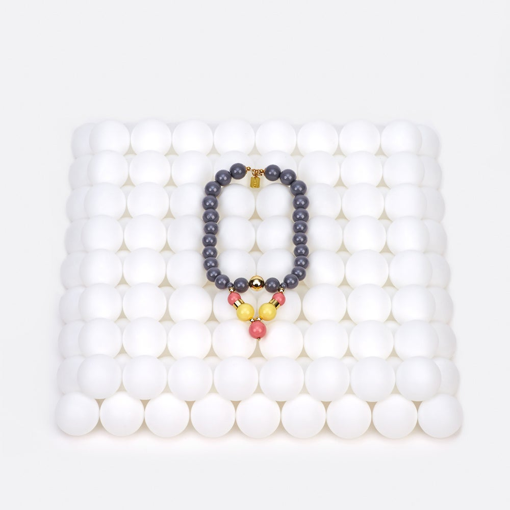Image of Grey bubble necklace