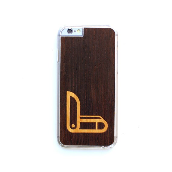 Image of TIMBER iPhone 6 Plus / 6s Plus Wood Case : Swiss Army Inlay Edition