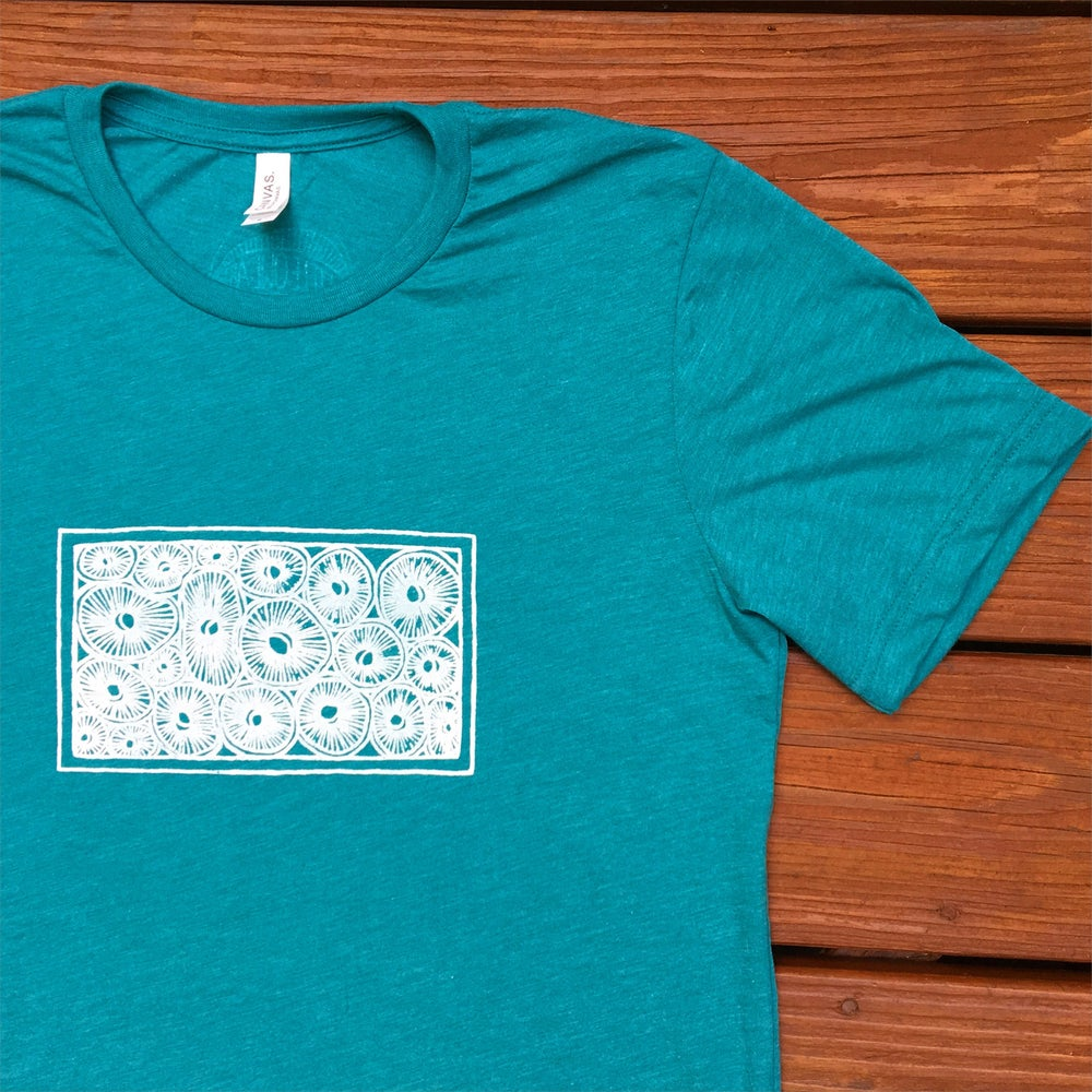 Image of +Spore Side Up+ men's triblend tee