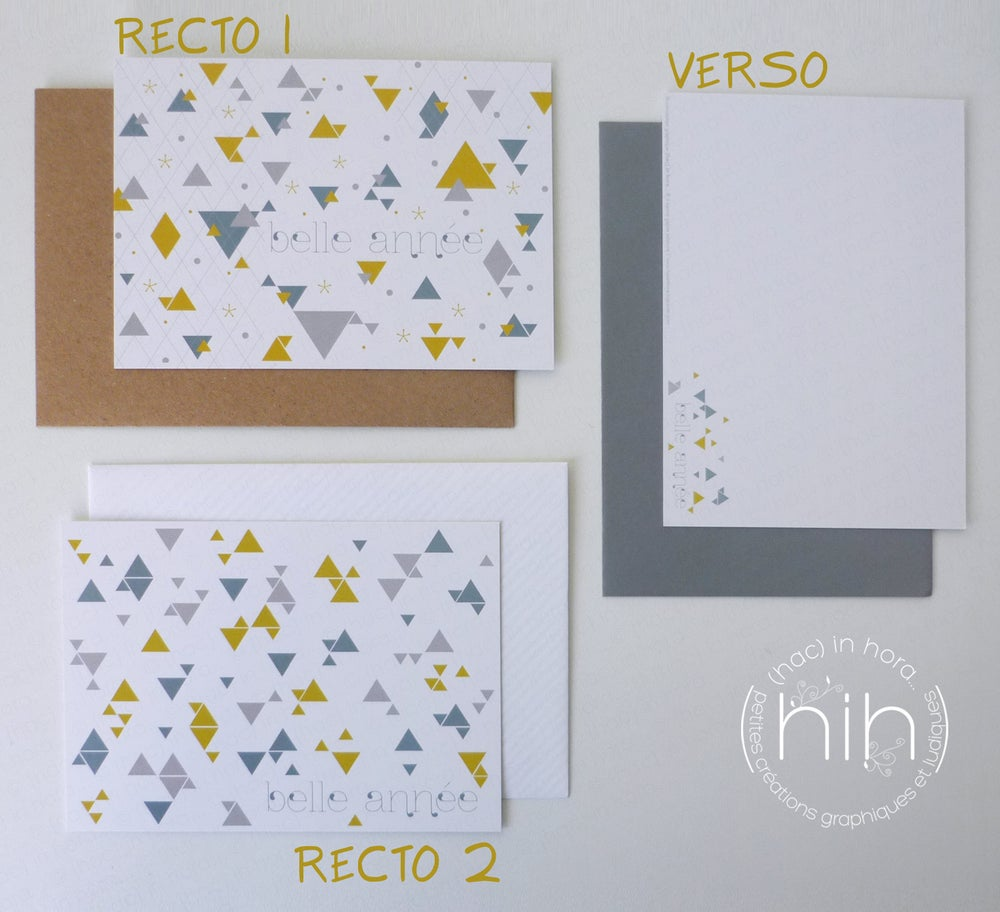Image of 4 cartes de voeux assorties ▲triangolini▲