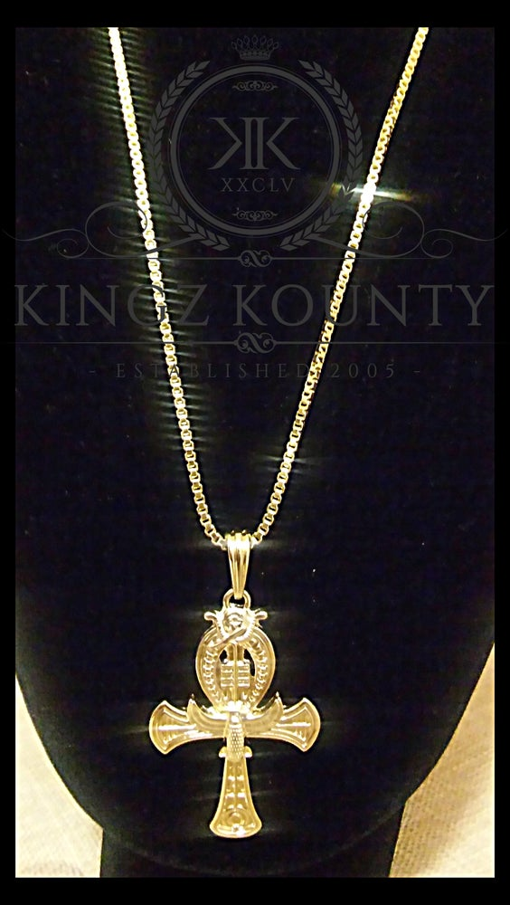 Image of KINGZ KOUNTY AHNK NECKLACE