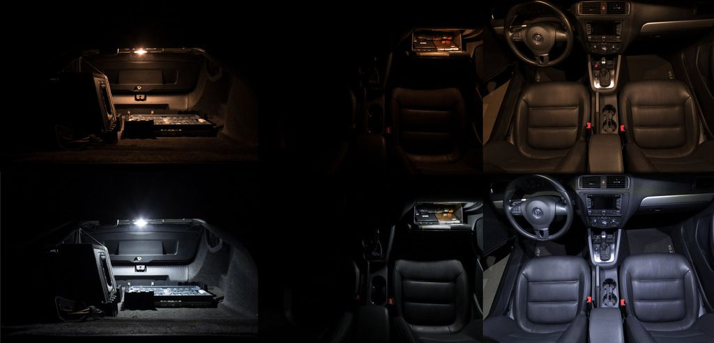 Image of 17pc Complete Interior LED Kit Including Trunk & Puddle LEDs fits: BMW E60 535xi 5-series