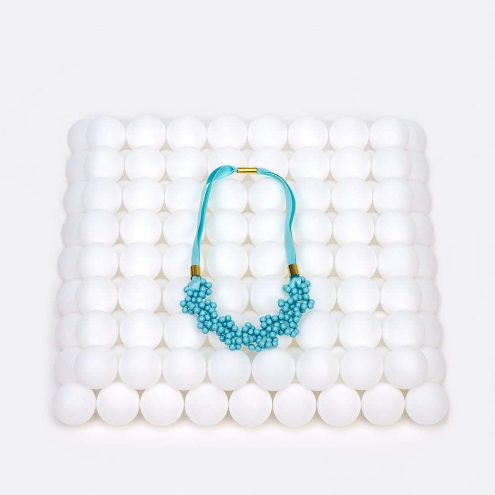 Image of Ice blue blowing up necklace