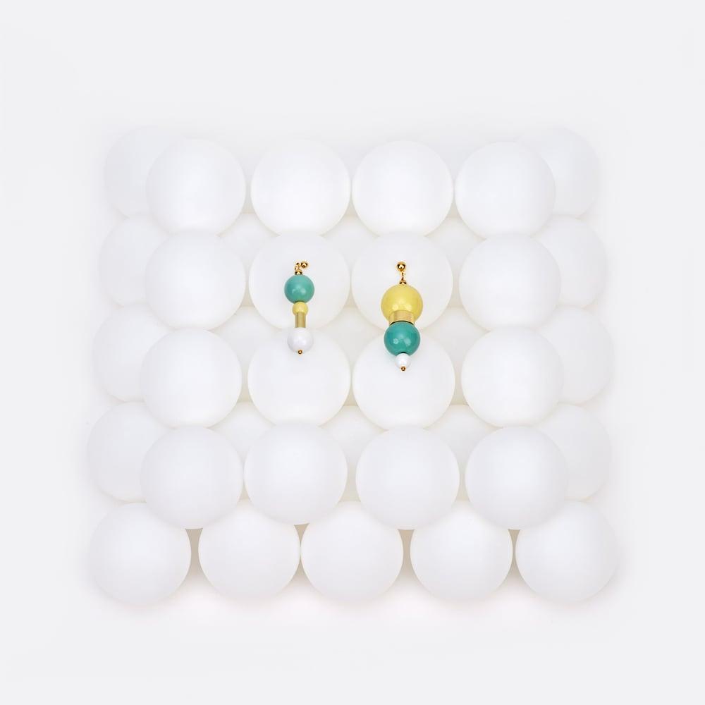 Image of Lemon mint bubble gum earrings