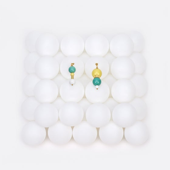 Image of Lemon mint bubble gum earrings