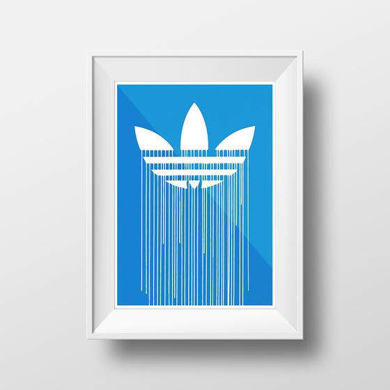 Image of 'Liquidated Adidas' by Zevs