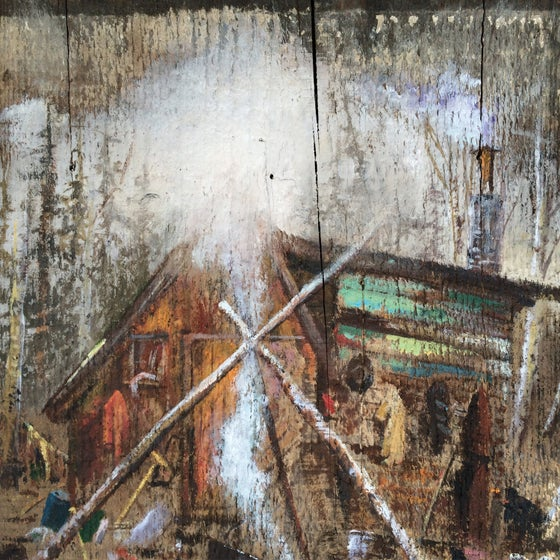 Image of RAGGED BARRACUDAS / PUSHY - split LP