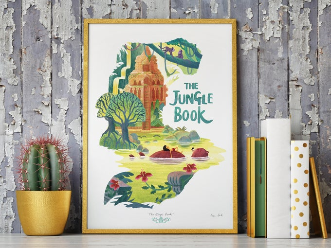 Image of 'The Jungle Book' - A3 ltd edition giclee print