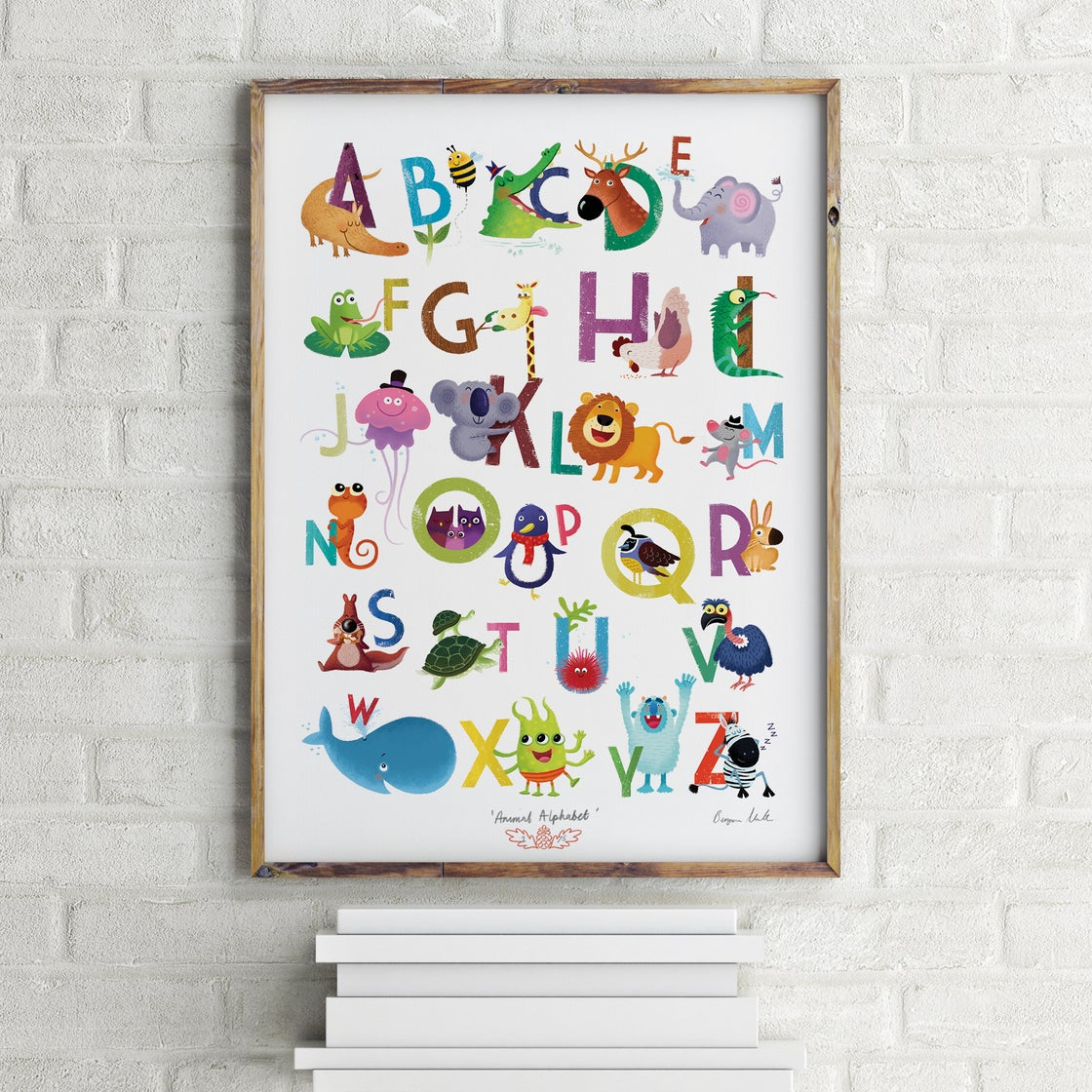 Image of Alphabet print - A3 Signed giclee print