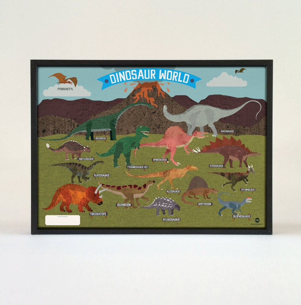 Image of Children Dinosaur Poster - 70cm x 50cm