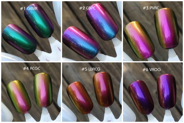 Image of Ultra Chameleon Chromes (DRY PIGMENT FORM) 1, 2, 5 and 10 gr.<p> 12 Colors Available