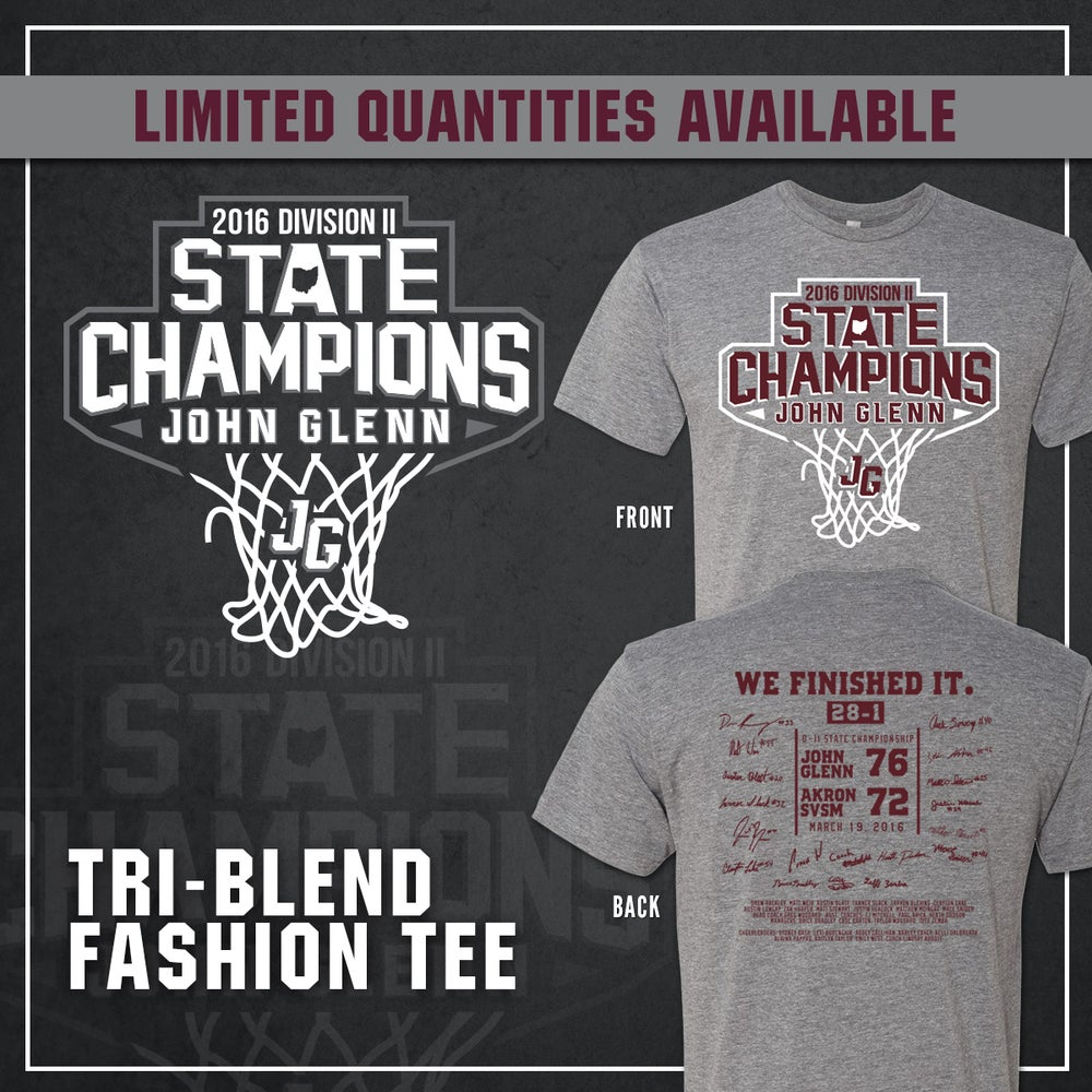 Image of John Glenn Muskies // 2016 State Champions (Tri-Blend Fashion T-Shirt)