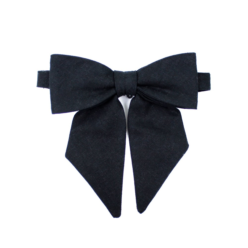 Image of Black Linen Lady Bow