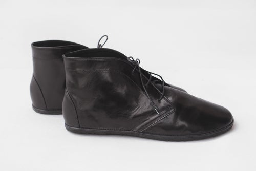 Image of Lace up ankle boots - Lion in Black