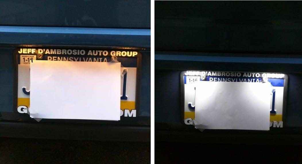 Image of LED License Plate Housings fits: Audi B8 A4/S4 TT Q5 Passat