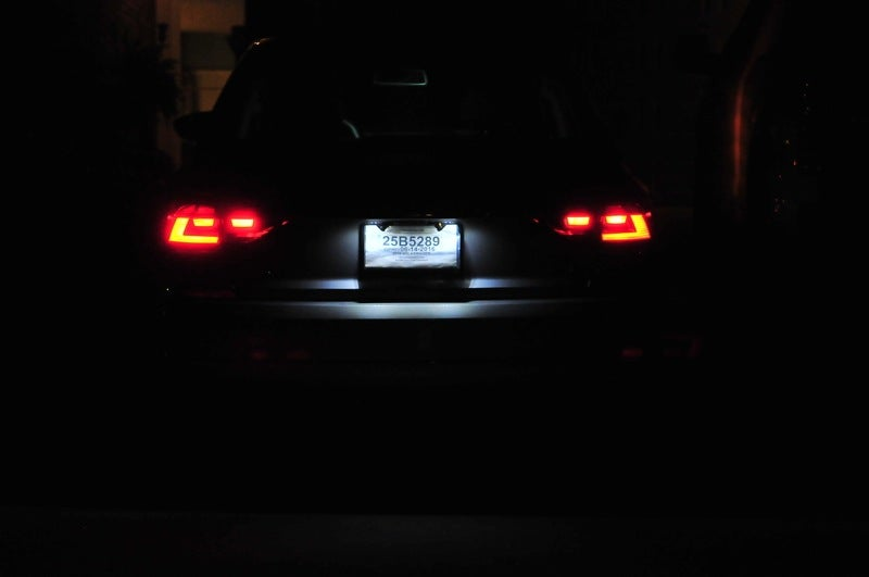 Image of Complete LED License Plate Housing fits: MK5 Golf/GTI