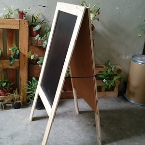 Medium Double Sided Standing Chalkboard with Pinewood Frame (90cm X 60cm)
